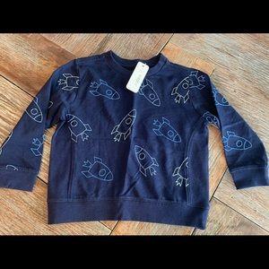 Nwt Gymboree boys blue rocket sweatshirt